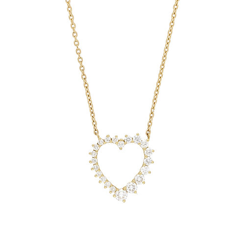 Liora Graduated Heart Shape Pendant