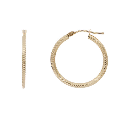 Bony Levy Gold Textured Hoops