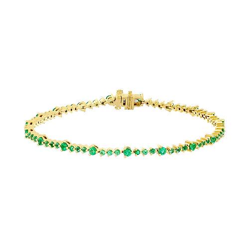 El Mar Emerald Tennis Bracelet