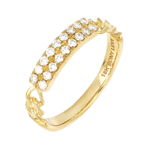 KATHARINE DOUBLE ROW LINK RING