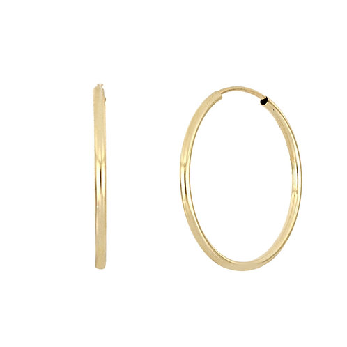 Bony Levy Gold Eternity Hoops