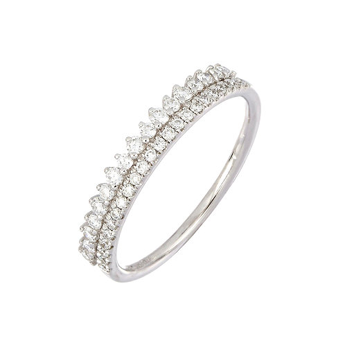 Rita Two Row Stackable Ring