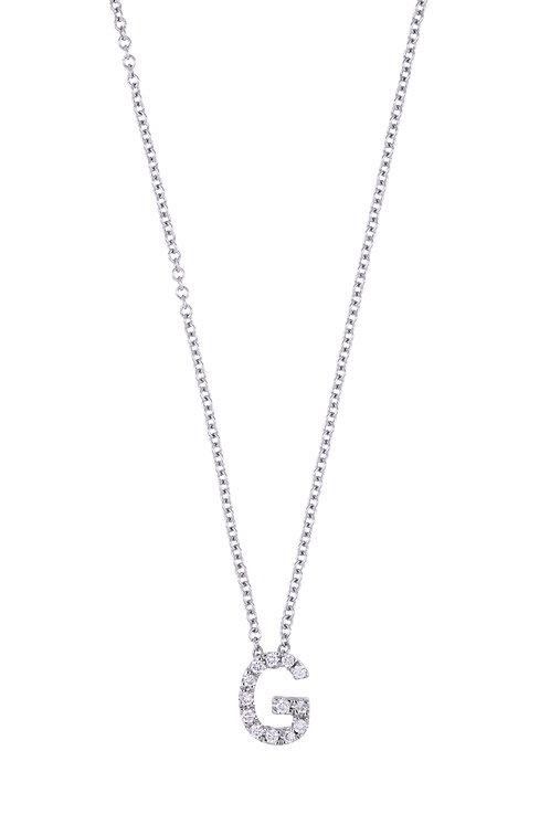 "Single Initial Diamond Pendant - ""G"""