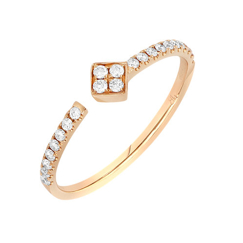 Prism Square Station Stackable Cuff Ring