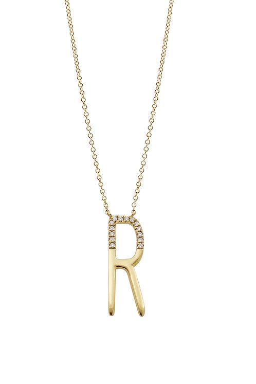 Kiera Initial Pendant 'R'