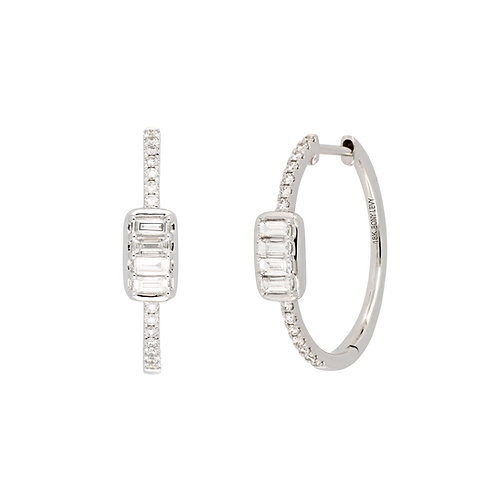 Varda Diamond and Baguette Hoops