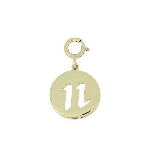 "14K Initial Charm - ""N"""