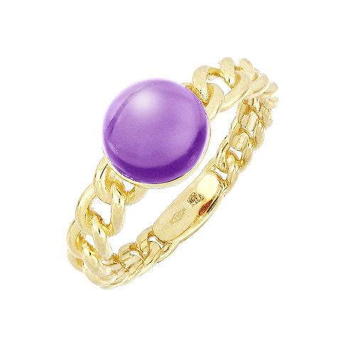 Iris Link Cabochon Color Ring