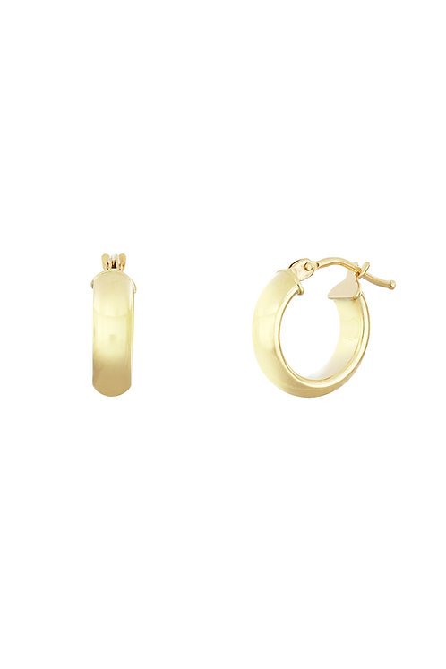 Bony Levy Gold Polished Wide Hoops