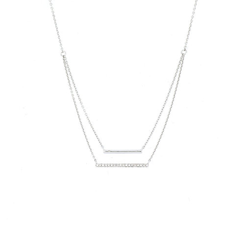 Aviva Double Bar Necklace