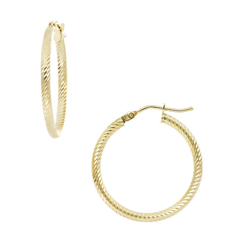 Bony Levy Gold Small Twisted Rope Hoops
