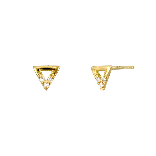 Simple Obsession Petite Triangle Studs