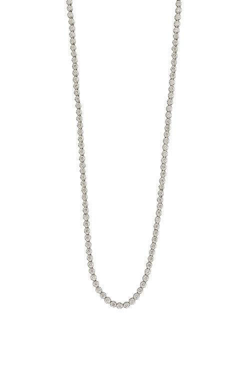 Diamond Bezel Tennis Necklace