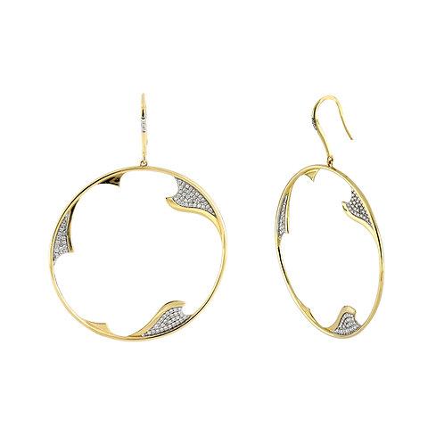 Two-Tone Organic Earrings