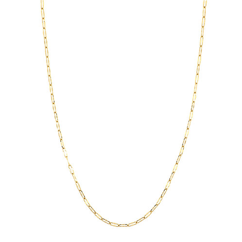 Gold Crimped Oval Link Chain