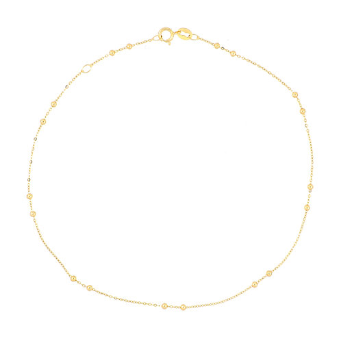 Bony Levy Gold Beaded Anklet