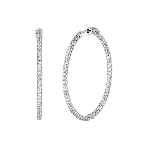 Audrey Luxe Inside Out Diamond Hoops