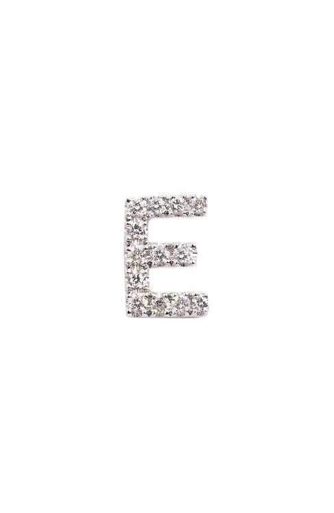 "Single Initial Diamond Stud - ""E"""