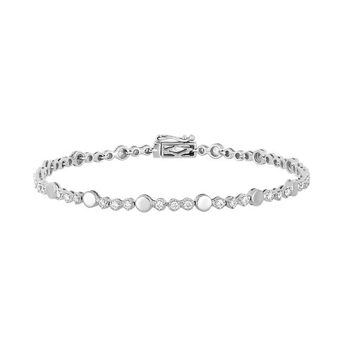 Mila Diamond and Gold Station Bracelet