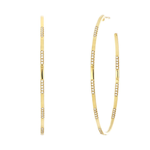 Kiera Section Large Hoops