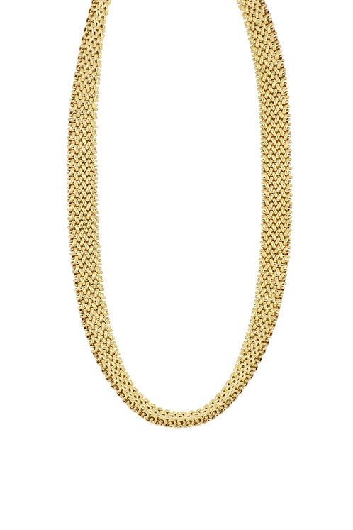 14K  WOVEN MULTI ROW NECKLACE