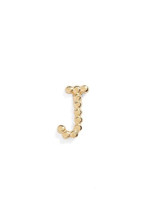 "Single Initial 14K Stud - ""J"""