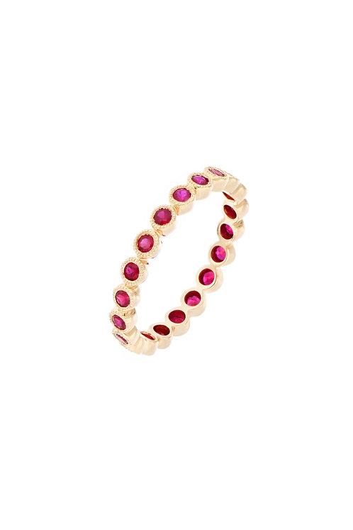 El Mar Ruby Eternity Ring