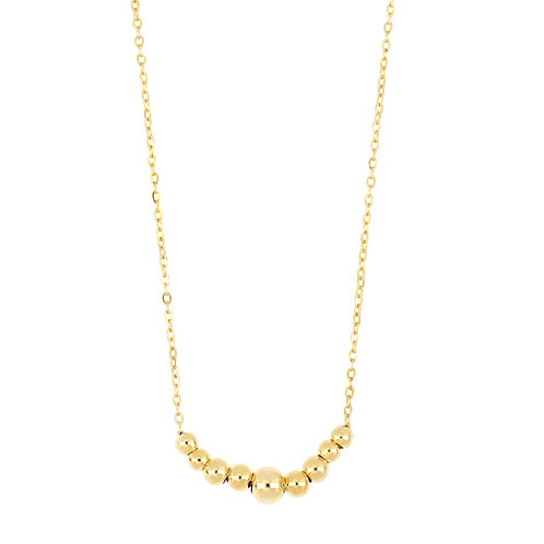 BLG CENTERED BALL CHAIN NECKLACE