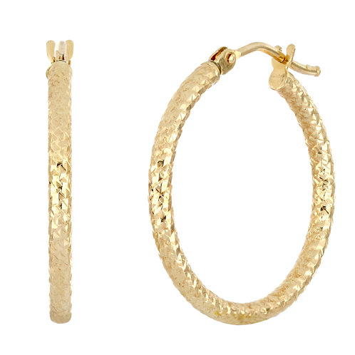 Bony Levy Gold Rope Texture Hoops