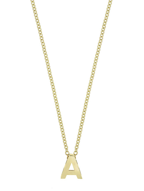 14K Initial Pendent- A