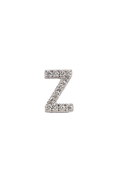 "Single Initial Diamond Stud - ""Z"""