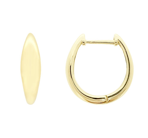 14K Concaved Hoops