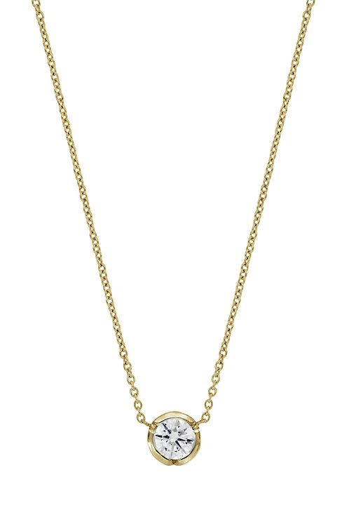 0.25 Yellow Gold Bezel Pendant