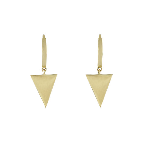 Simple Obsessions Triangle Drop Earrings