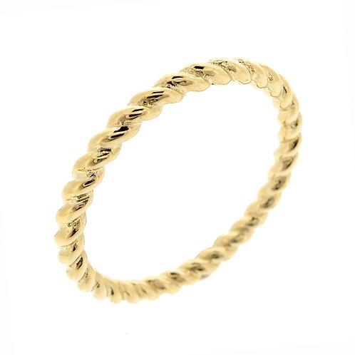 14K Twist Stackable Ring