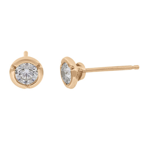 0.50 Yellow Gold Bezel Stud