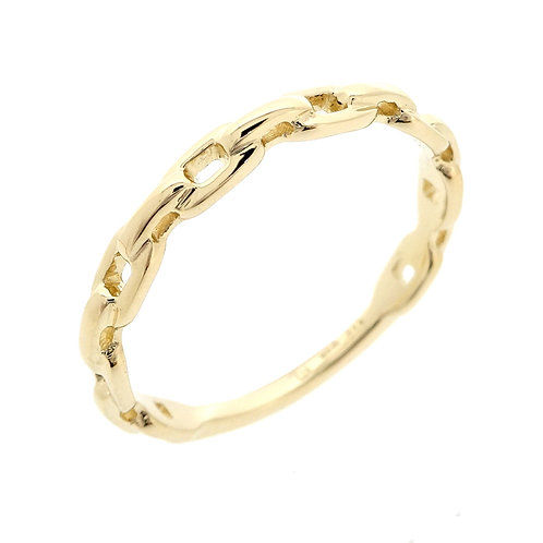 Chain Link 14K Stackable Ring