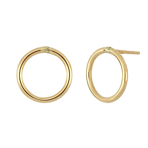 Bony Levy Gold Open Circle Studs