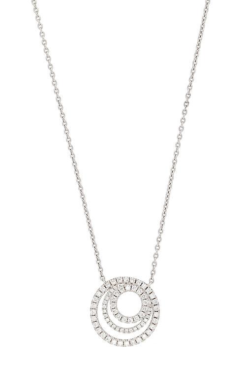 Bardot Three Circle Diamond Pendant
