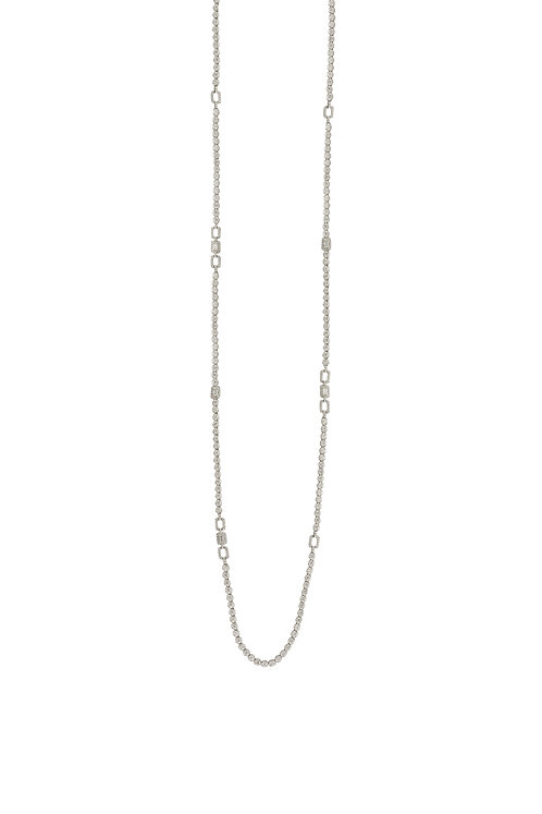 Open Link Long Strand Necklace