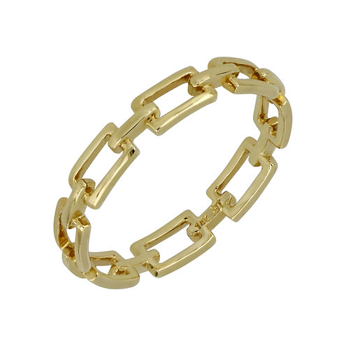 Bony Levy Gold Rectangular Link Ring