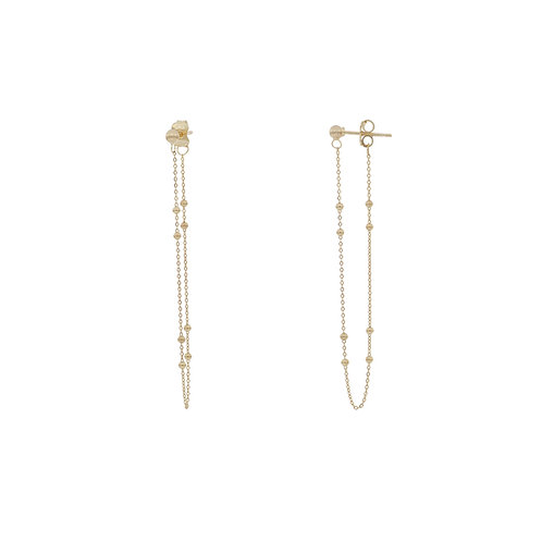 Bony Levy Gold Beaded Chain Earrings