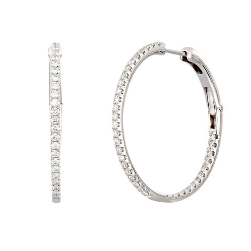 Bardot 25MM Inside Out Hoops