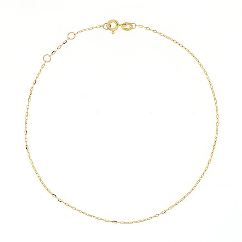Bony Levy Gold Mini Link Chain Anklet