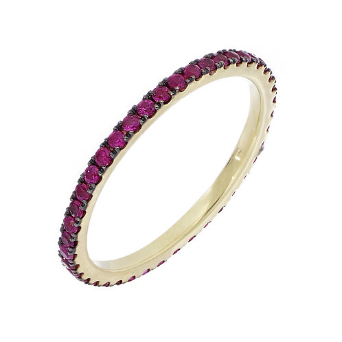 Ruby Stackable Eternity Band