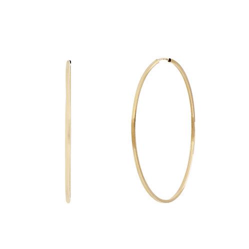 Bony Levy Gold Thin Statement Gold Hoops