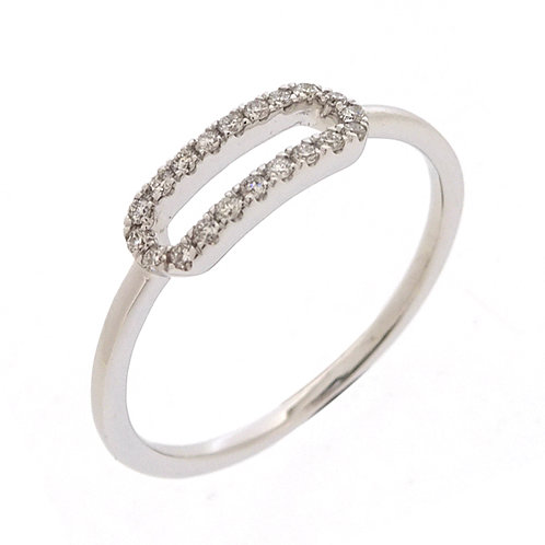 Prism Open Shape Stackable Ring