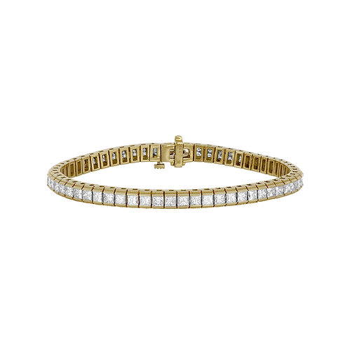 Lux Princess Cut Diamond Tennis Bracelet