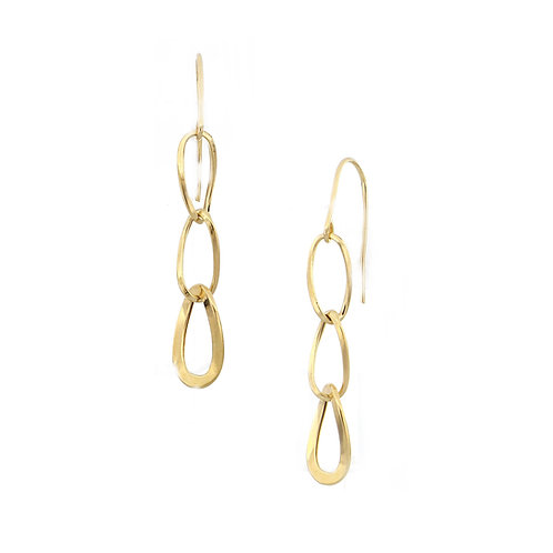 Bony Levy Gold Elongated Link Earrings