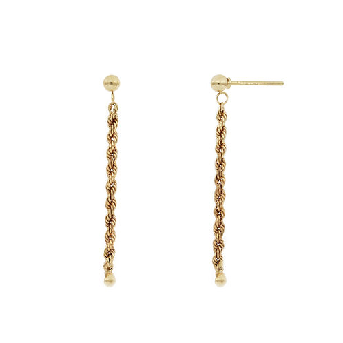 Bony Levy Gold Textured Linear Earrings